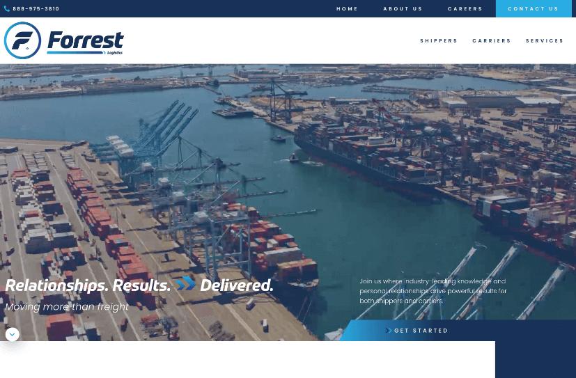Forrest Logistics Website