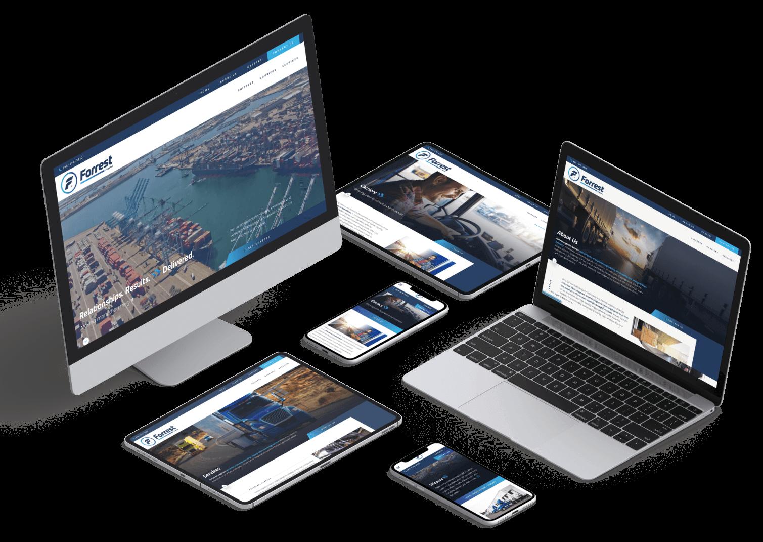 Forrest Logistics Responsive Web Design