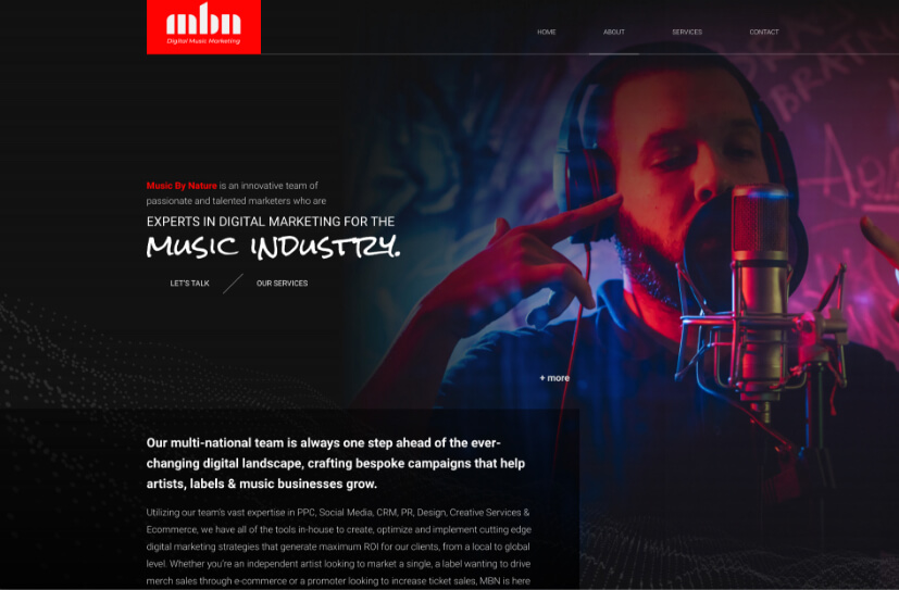 Music By Nature Web Design